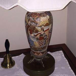 Pair of Satsuma Antique Lamps